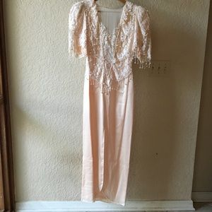Vintage Lillie Rubin Beverly Hills NY Silk Dress